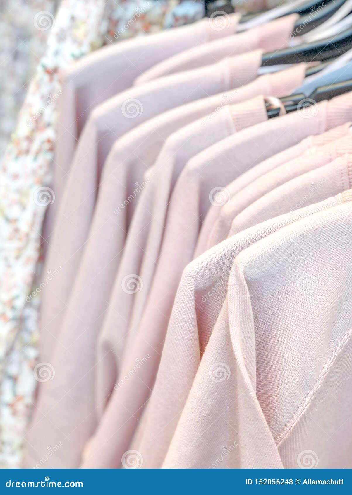 Rail of t-shirts