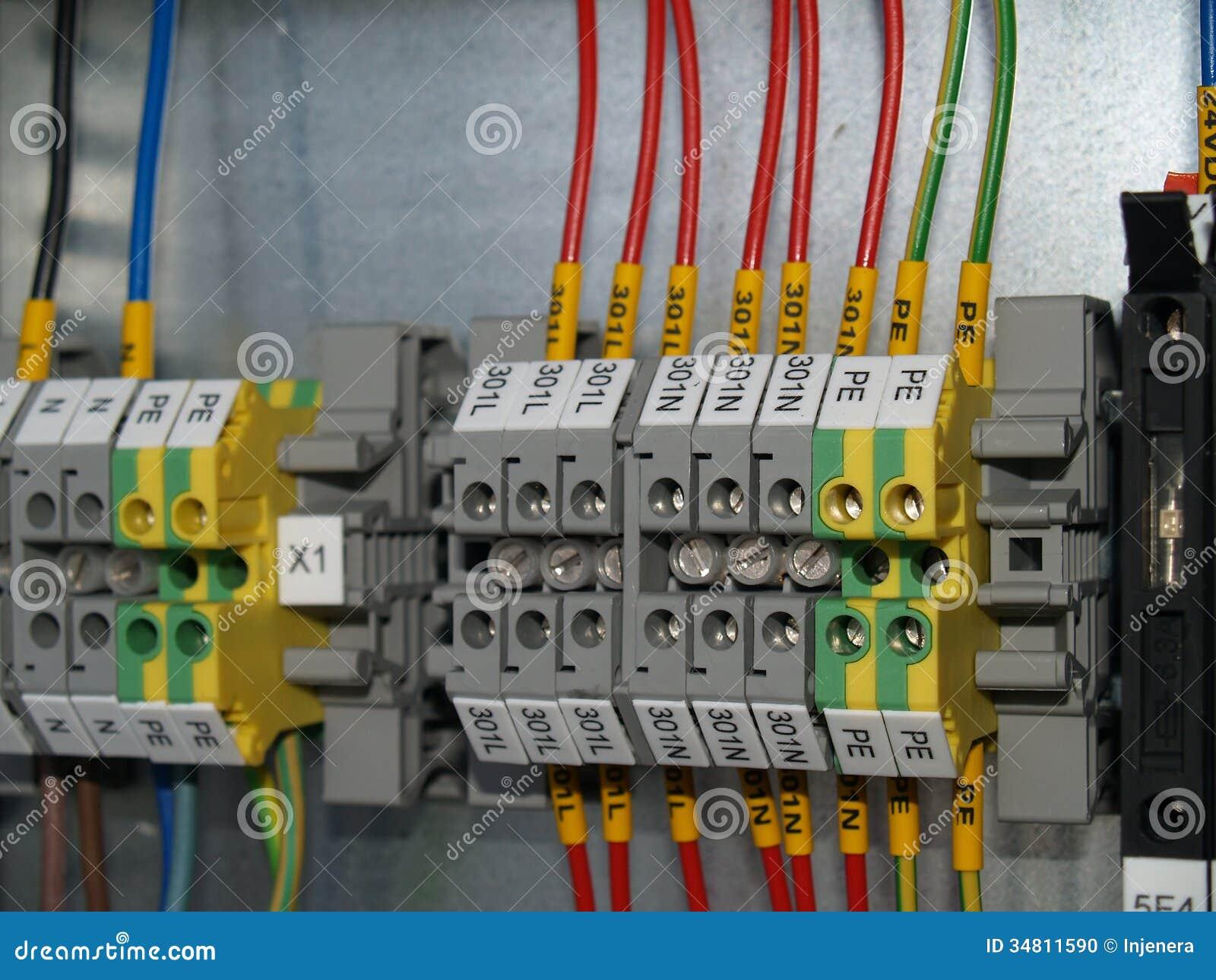 Rail Terminal Box Distribution Clamps on Lighting Junction Box