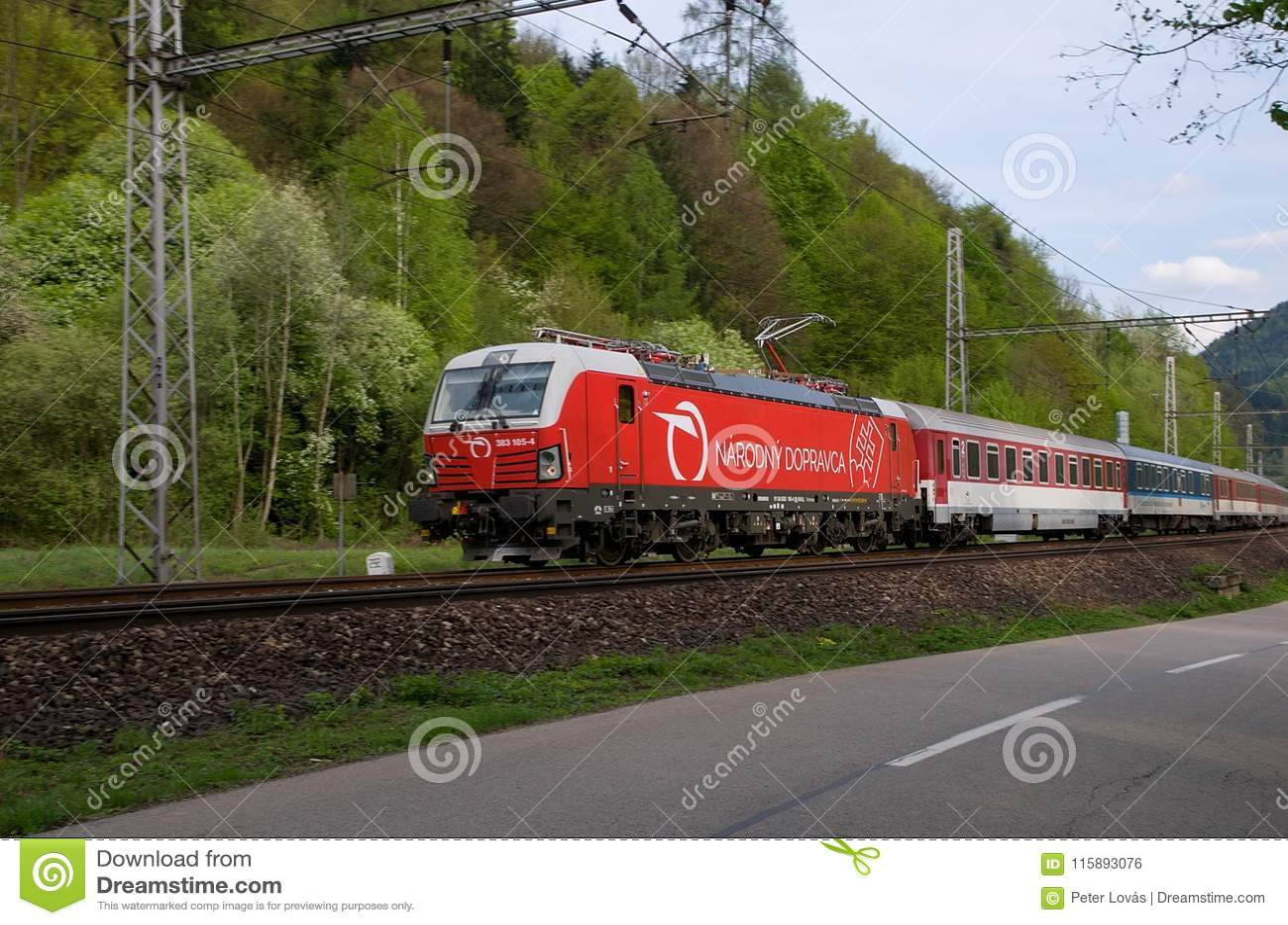 National carrier of Slovak Railways - locomotive Siemens