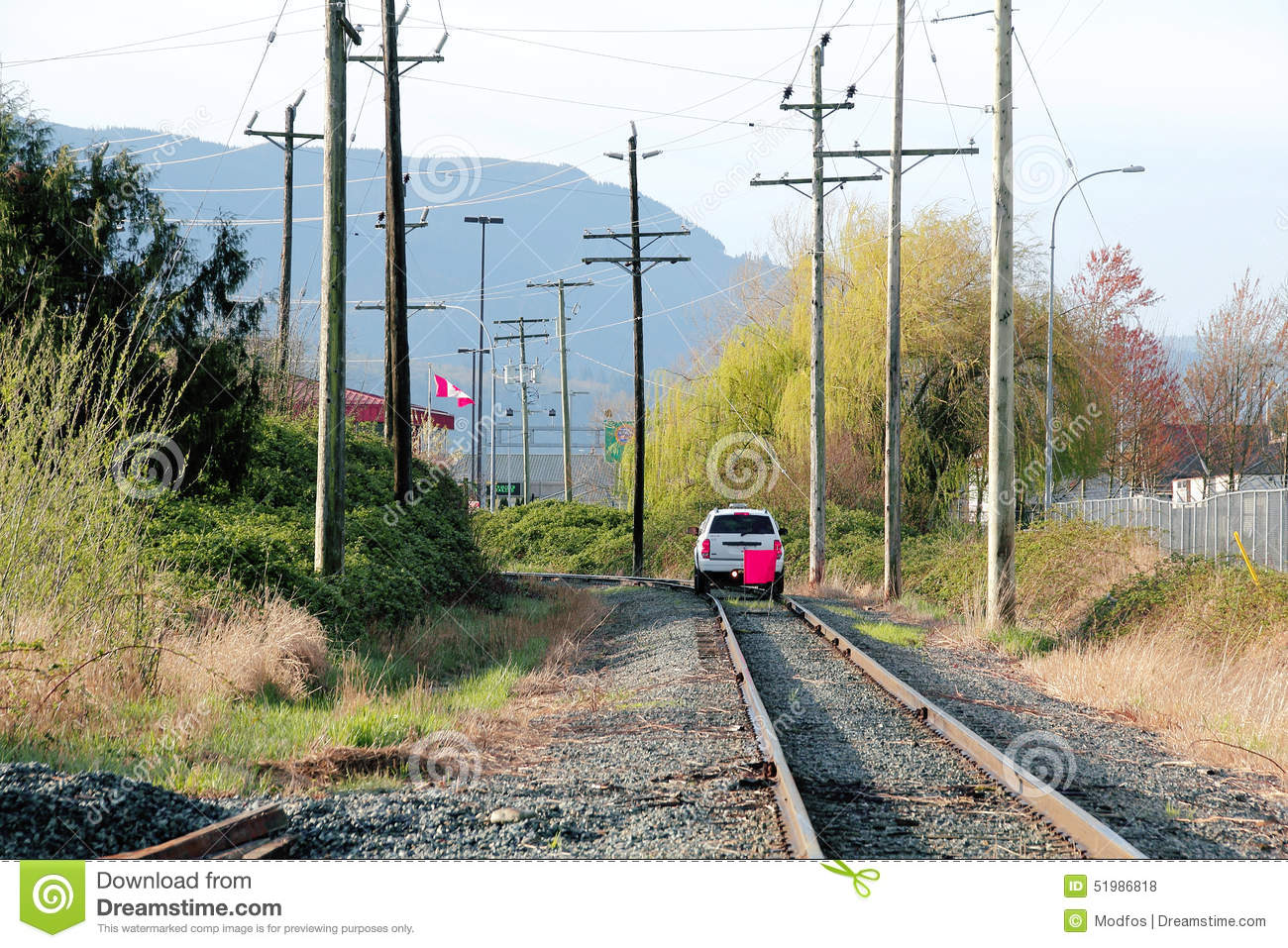 Rail Vehicle For Track Inspection Stock Photo - Image of