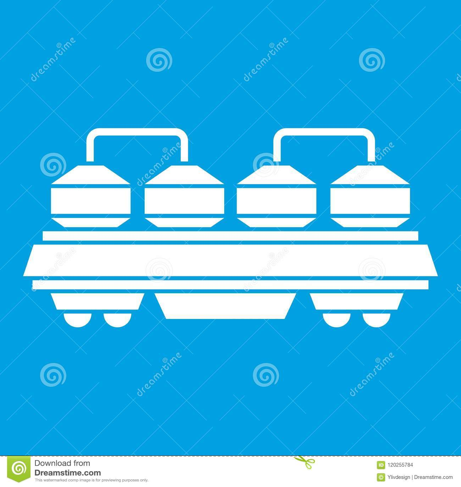 Rail Wagon For Cement Icon White Stock Vector ...