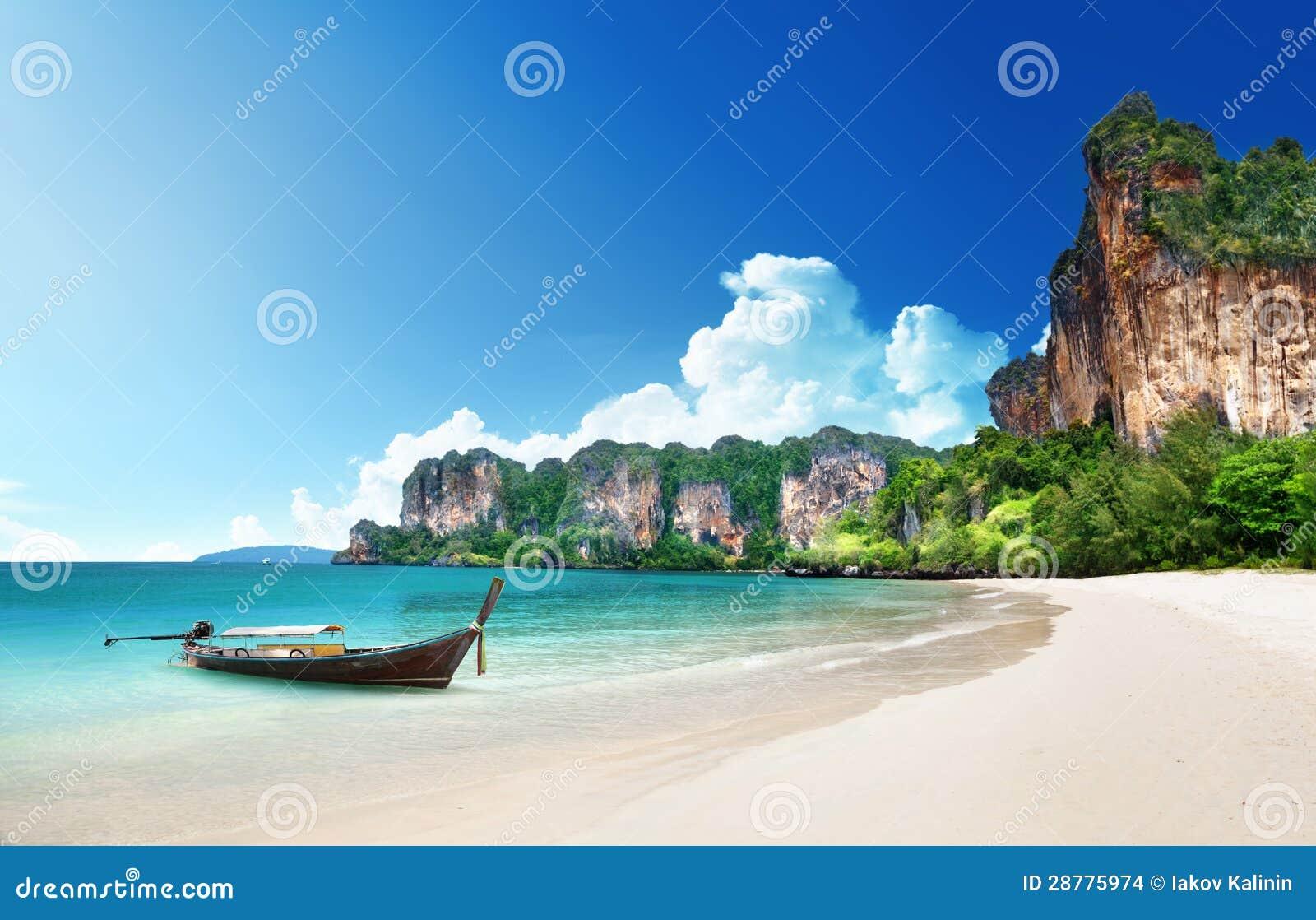 Railay海滩在Krabi泰国