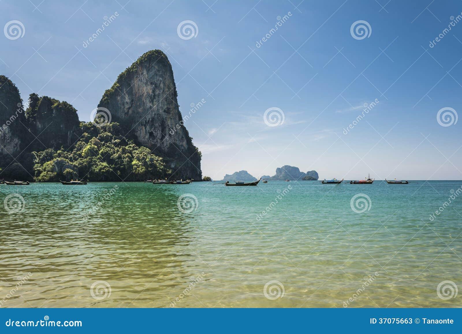 Download Railay Wyrzucać Na Brzeg, Andaman Morze W Krabi, Tajlandia. Obraz Stock - Obraz złożonej z krajobraz, sceneria: 37075663