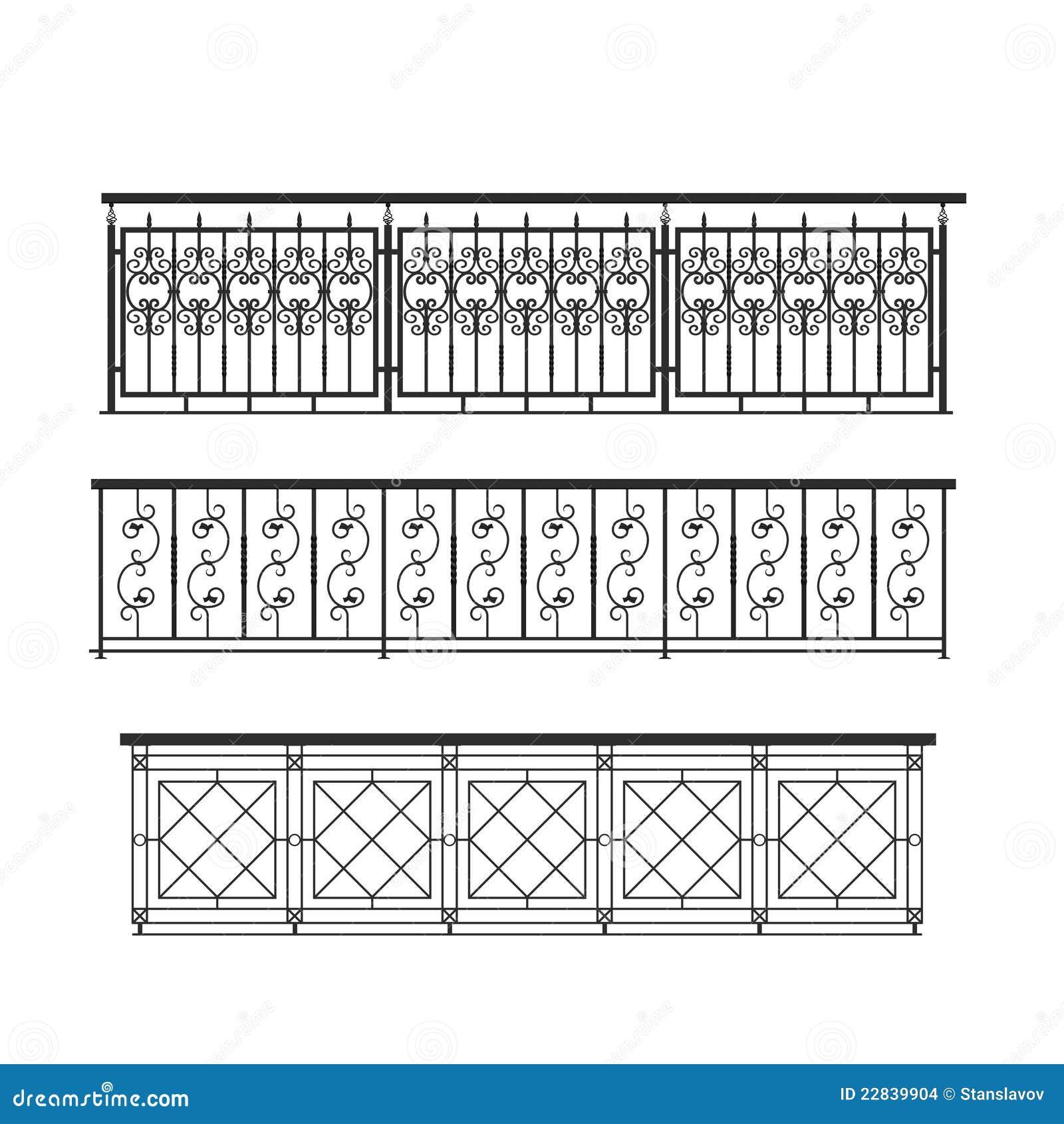 Railing parapet metal for exterior stock illustration for Time saver details for exterior wall design
