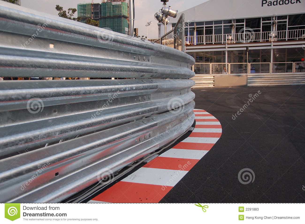 Railing of a race track