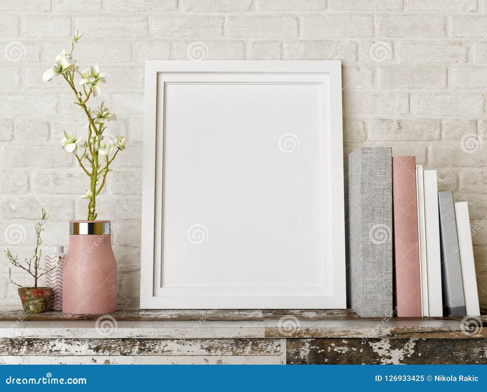 Raillez vers le haut de l affiche avec des livres et fleurissez la composition,