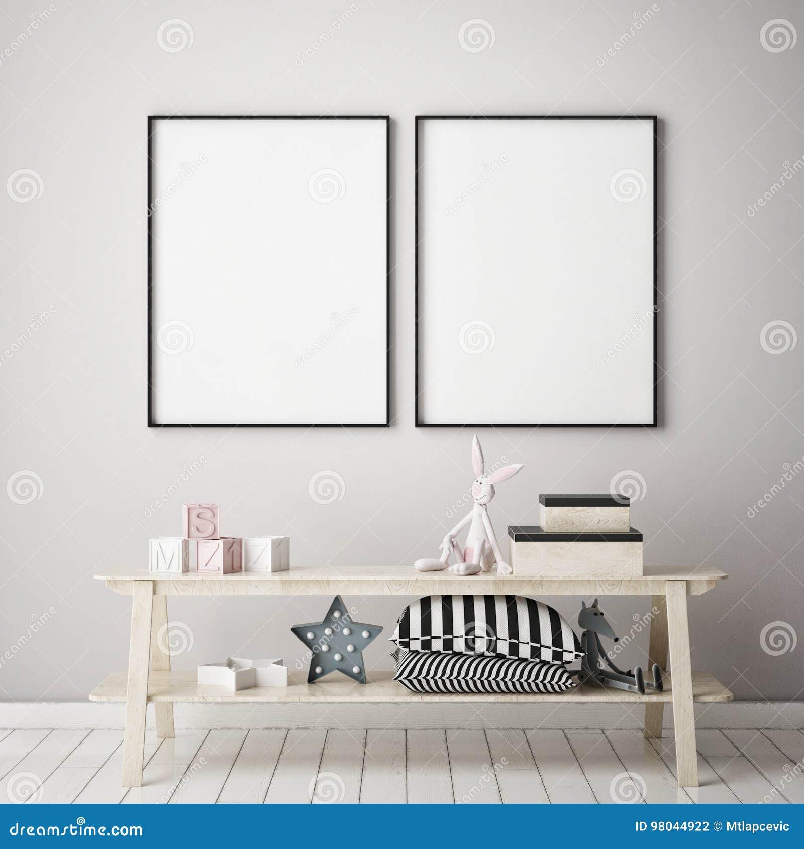 raillez vers le haut du cadre d'affiche chez la chambre à coucher