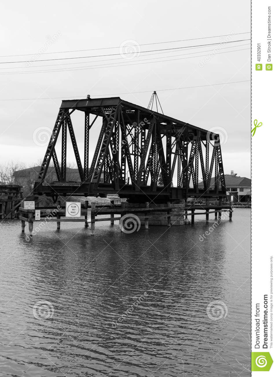 Download Railroad bridge stock image. Image of rivers, down, draw - 40332901