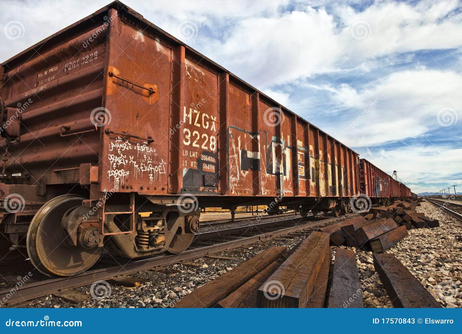 Railroad Cars Stock Image. Image Of Down, Color, Arizona