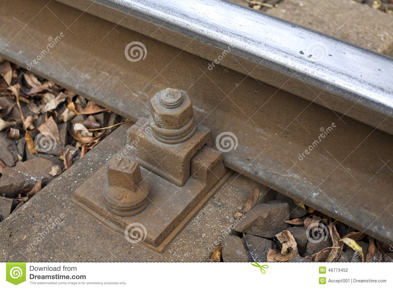 Railroad Track Bolt As Background  Stock Photo - Image of