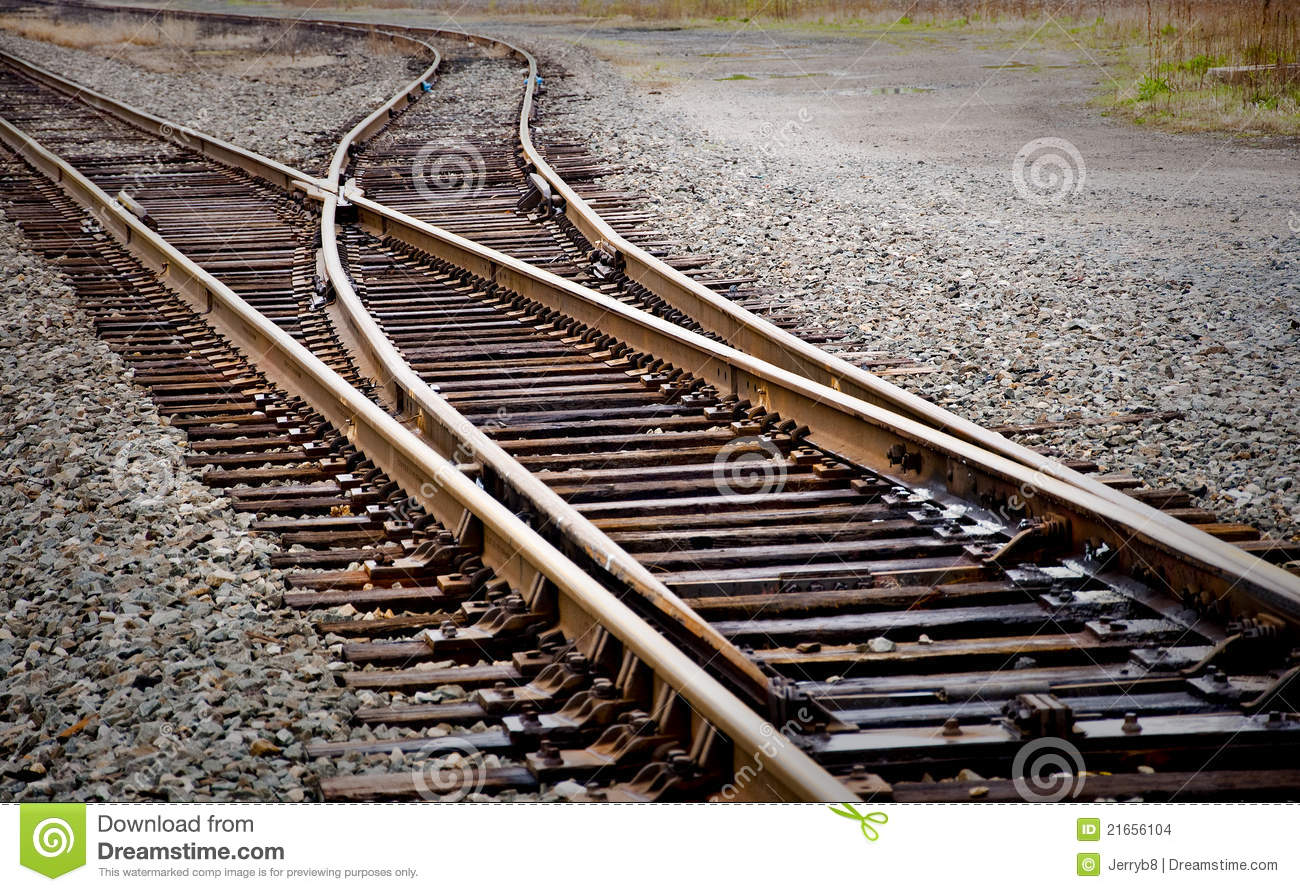 Railroad Track Switch Stock Images - Image: 21656104