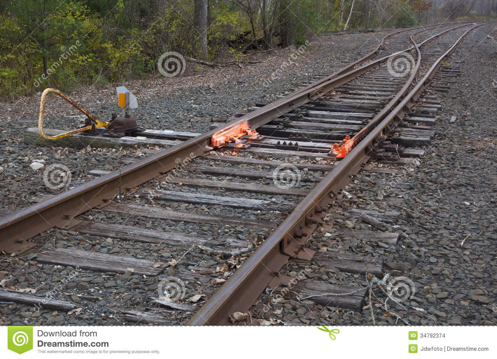 Levers Train Tracks O N : Railroad track switch stock photo image of train railway