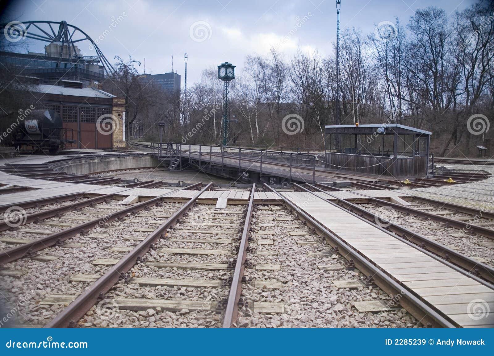Railroad Track Turntable stock image  Image of locomotive
