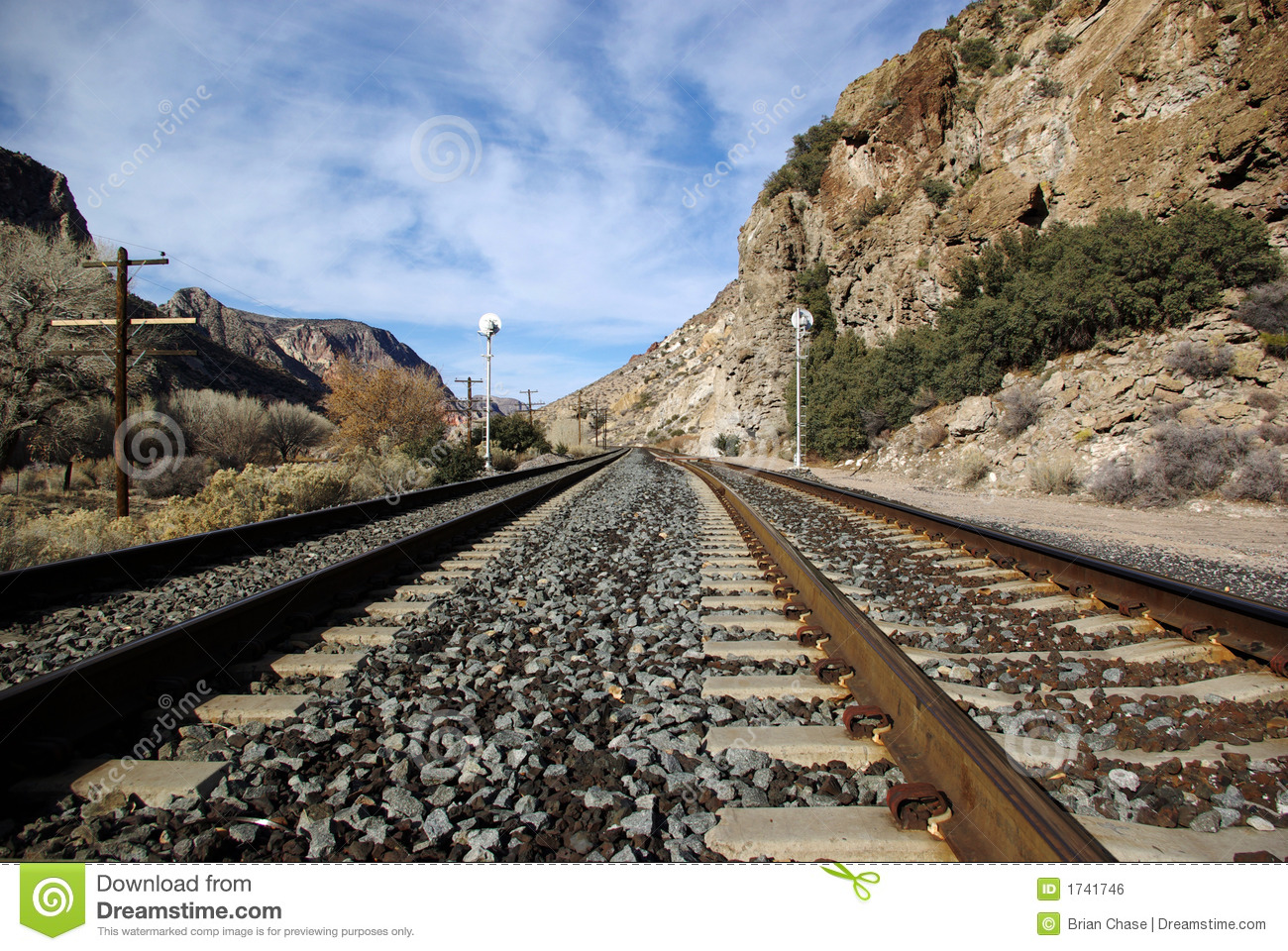 Railroad Tracks Royalty Free Stock Image - Image: 1741746