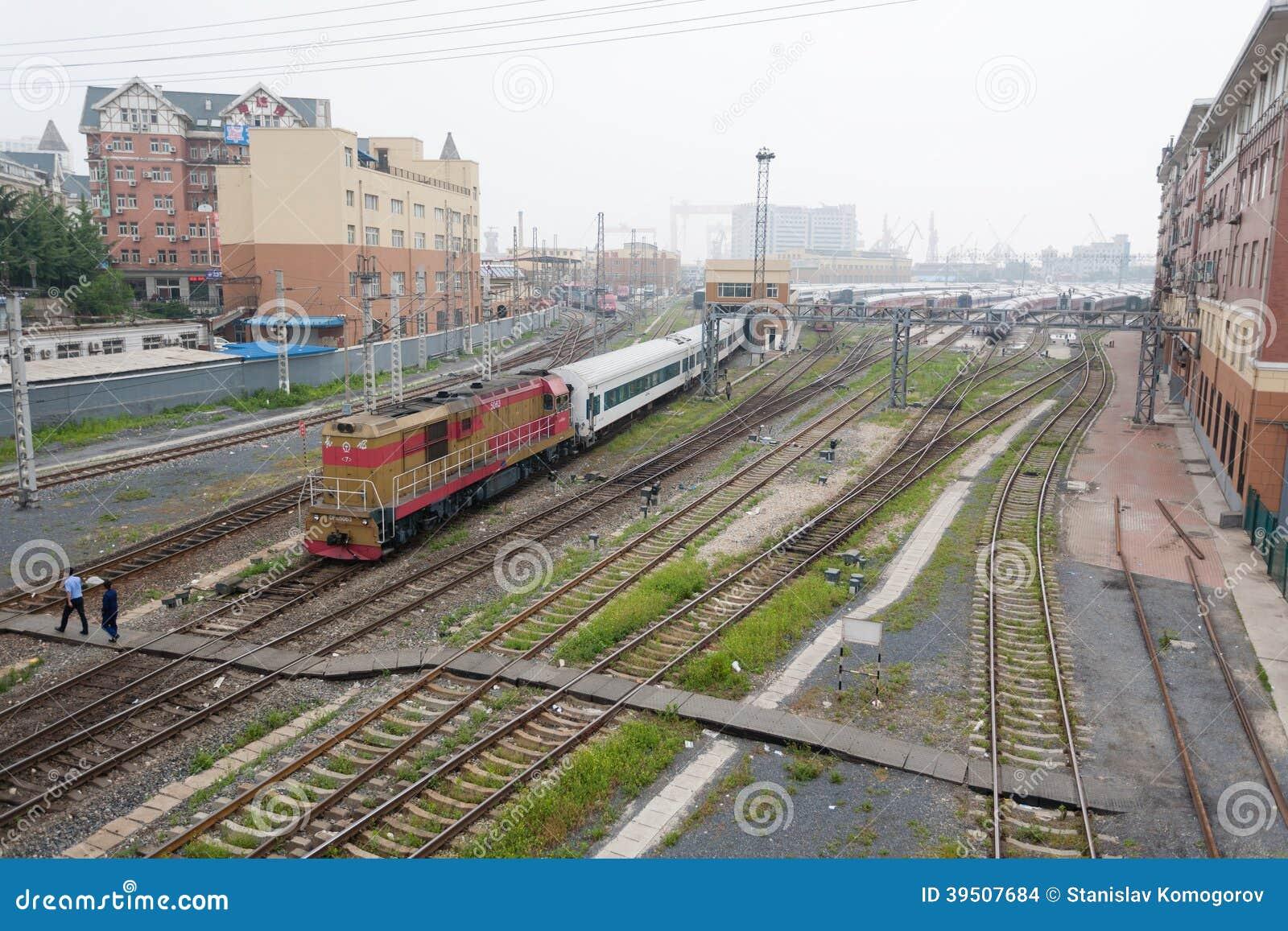 Railroad tracks in Dalian, China