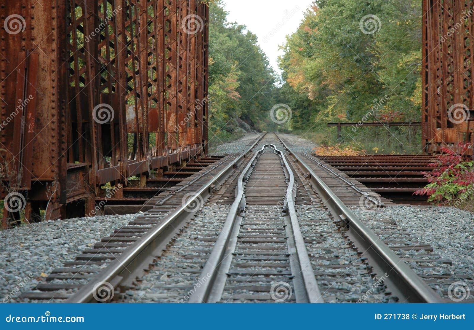 Railroad Tracks Over Bridge Royalty Free Stock Photos - Image: 271738