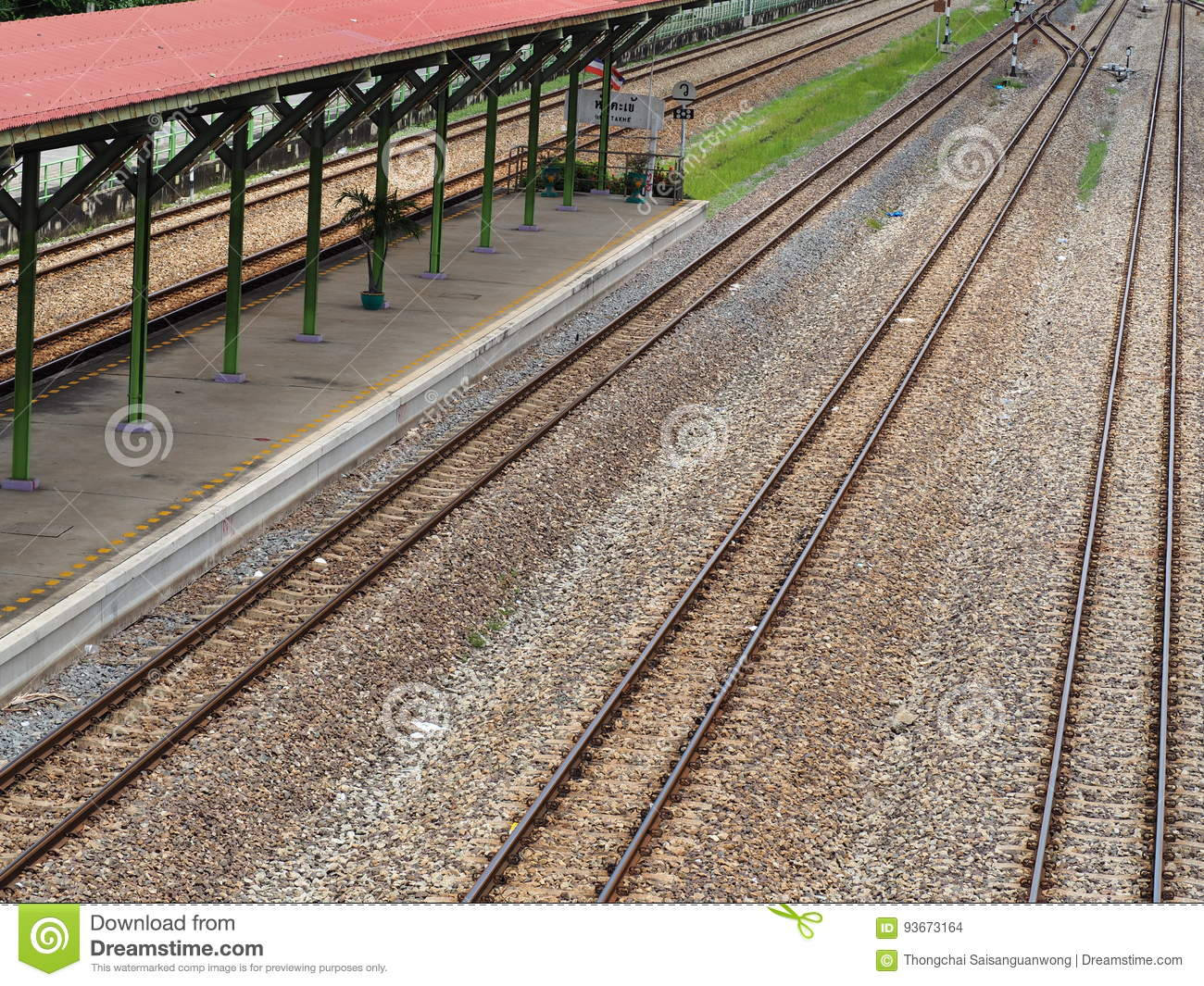 railroad tracks stock photo image of track industry 93673164