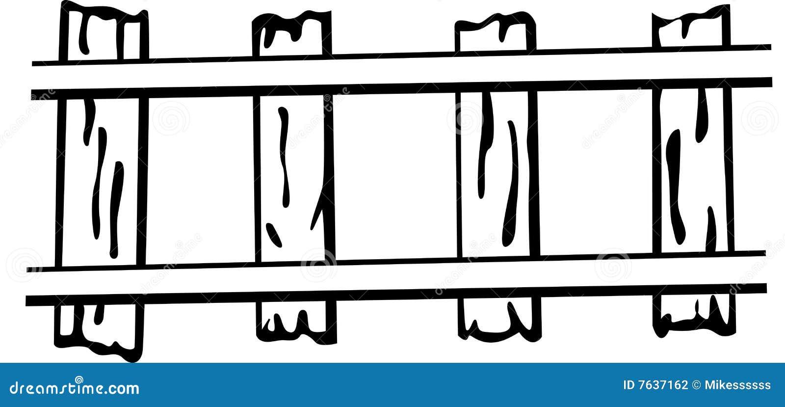 railroad or train rails vector illustration stock