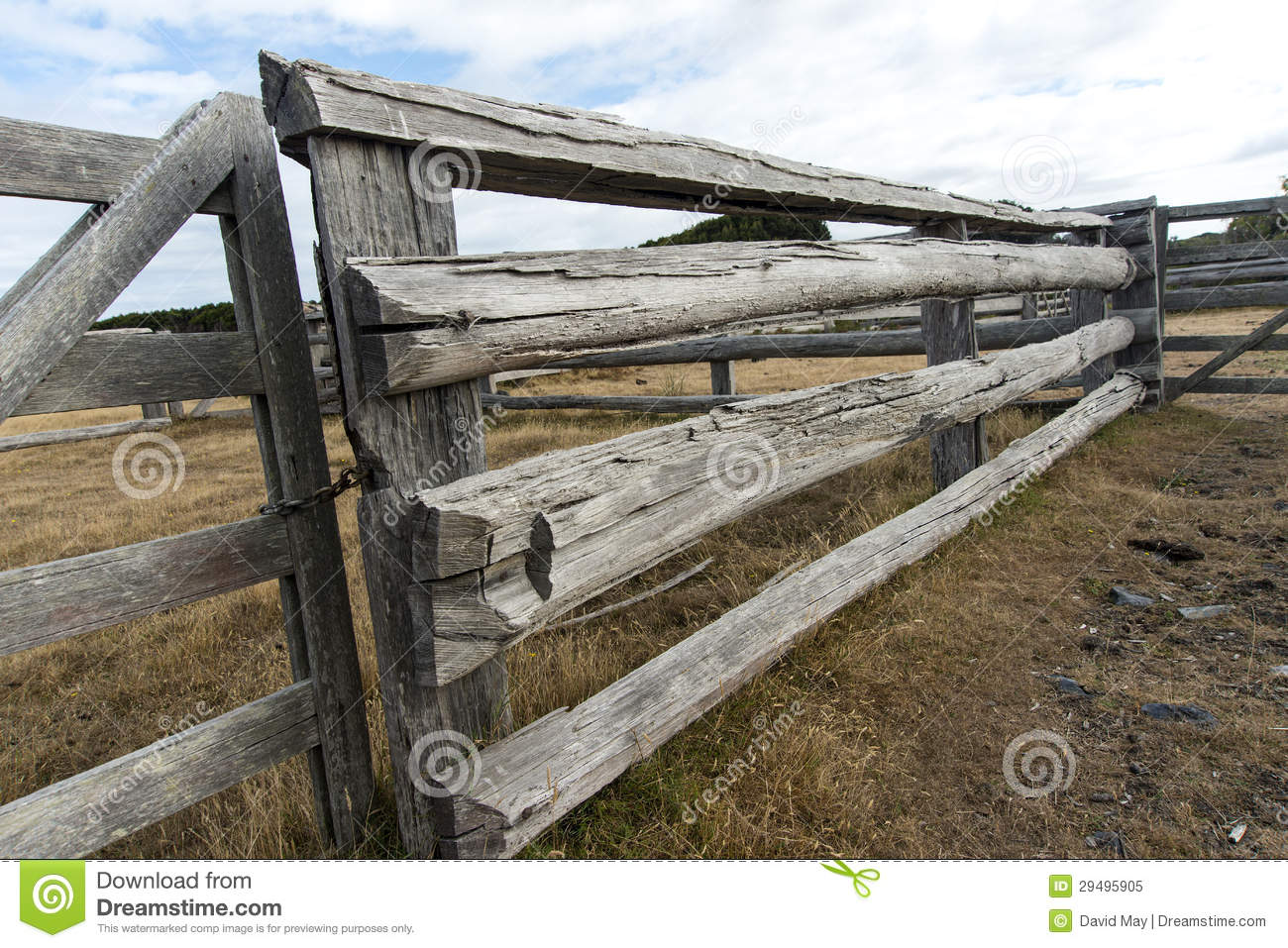 Rails And Gates Old Cattle Yards Stock Image Image Of Copyspace