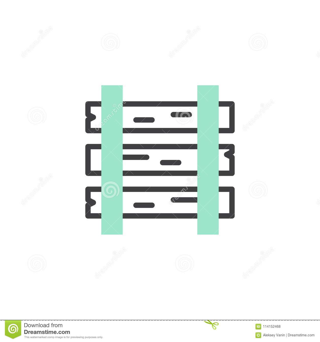 rails and sleepers icon vector stock vector illustration of