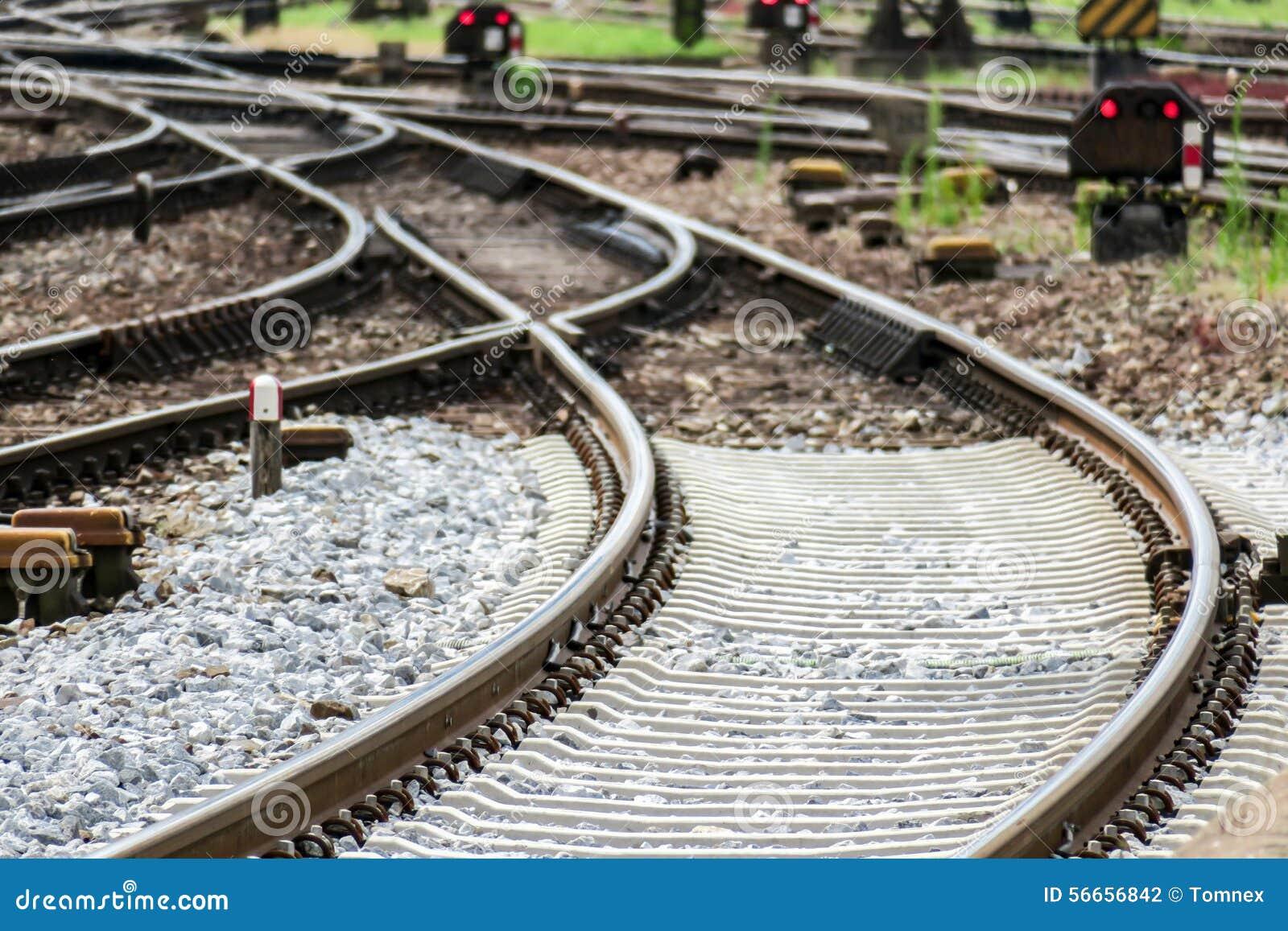 Railway background stock photo  Image of tracks, switch