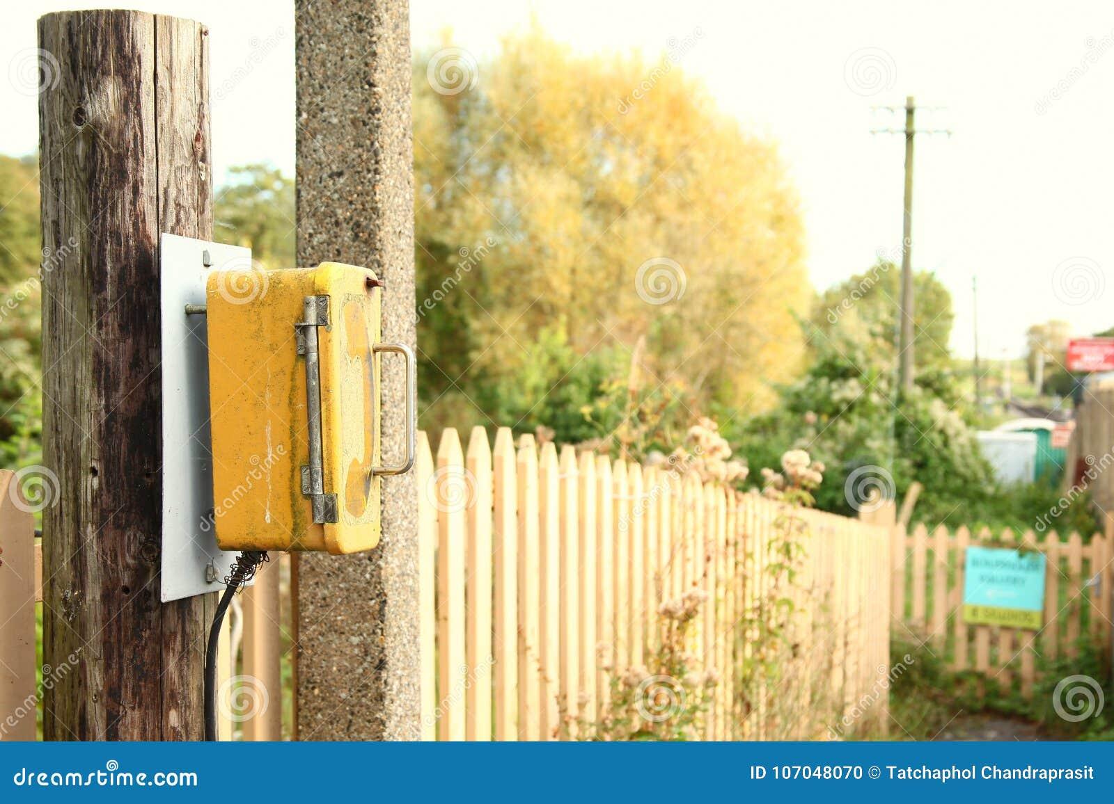 Telephone call box scene  stock photo  Image of communication
