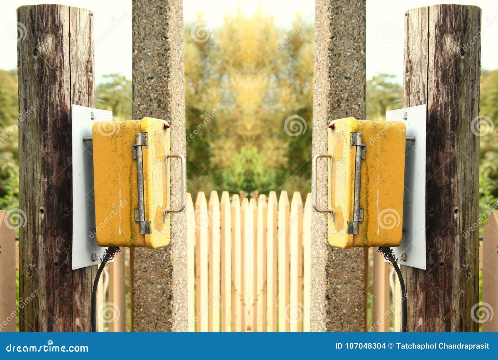 Telephone call box scene  stock photo  Image of railway