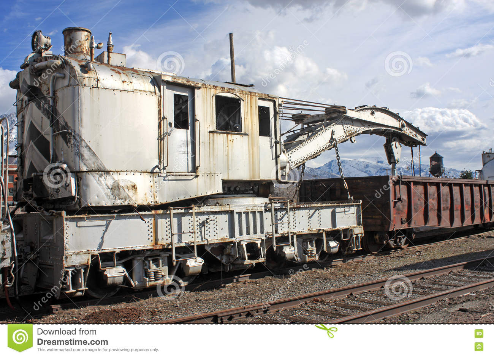 Railway Crane Stock Image Image Of Sleepers Railway