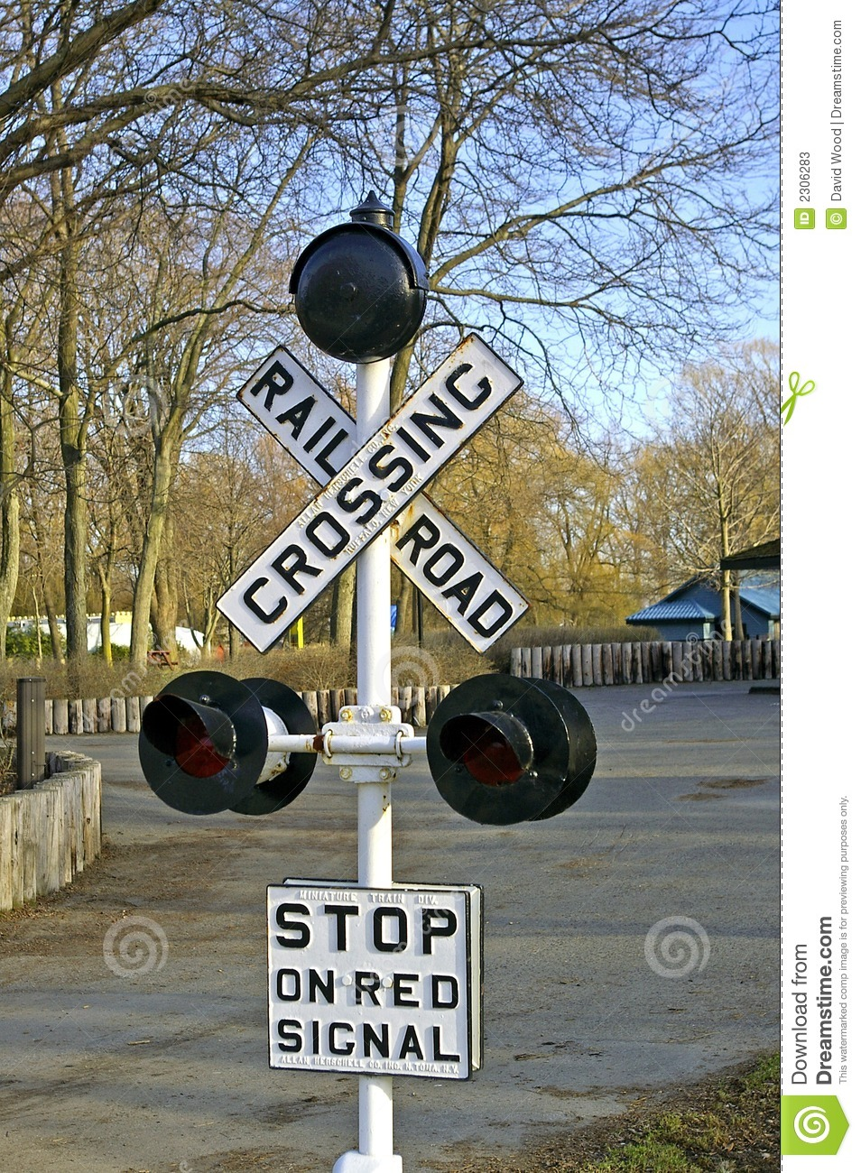 Railway Crossing Signal stock image. Image of rail, lights ...