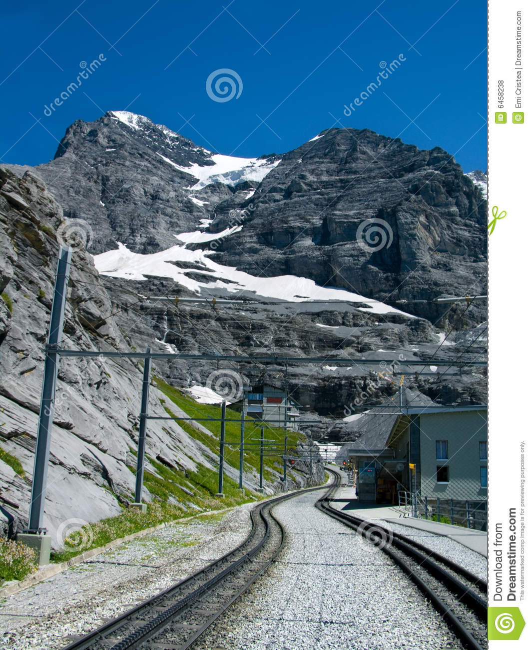 Railway in Eiger mountain