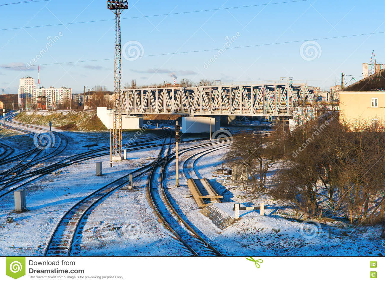 Railway infrastructure stock image. Image of landscape ...
