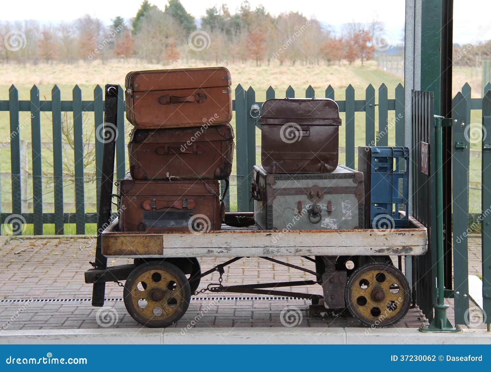 Railway Luggage Trolley. Stock Photography - Image: 37230062