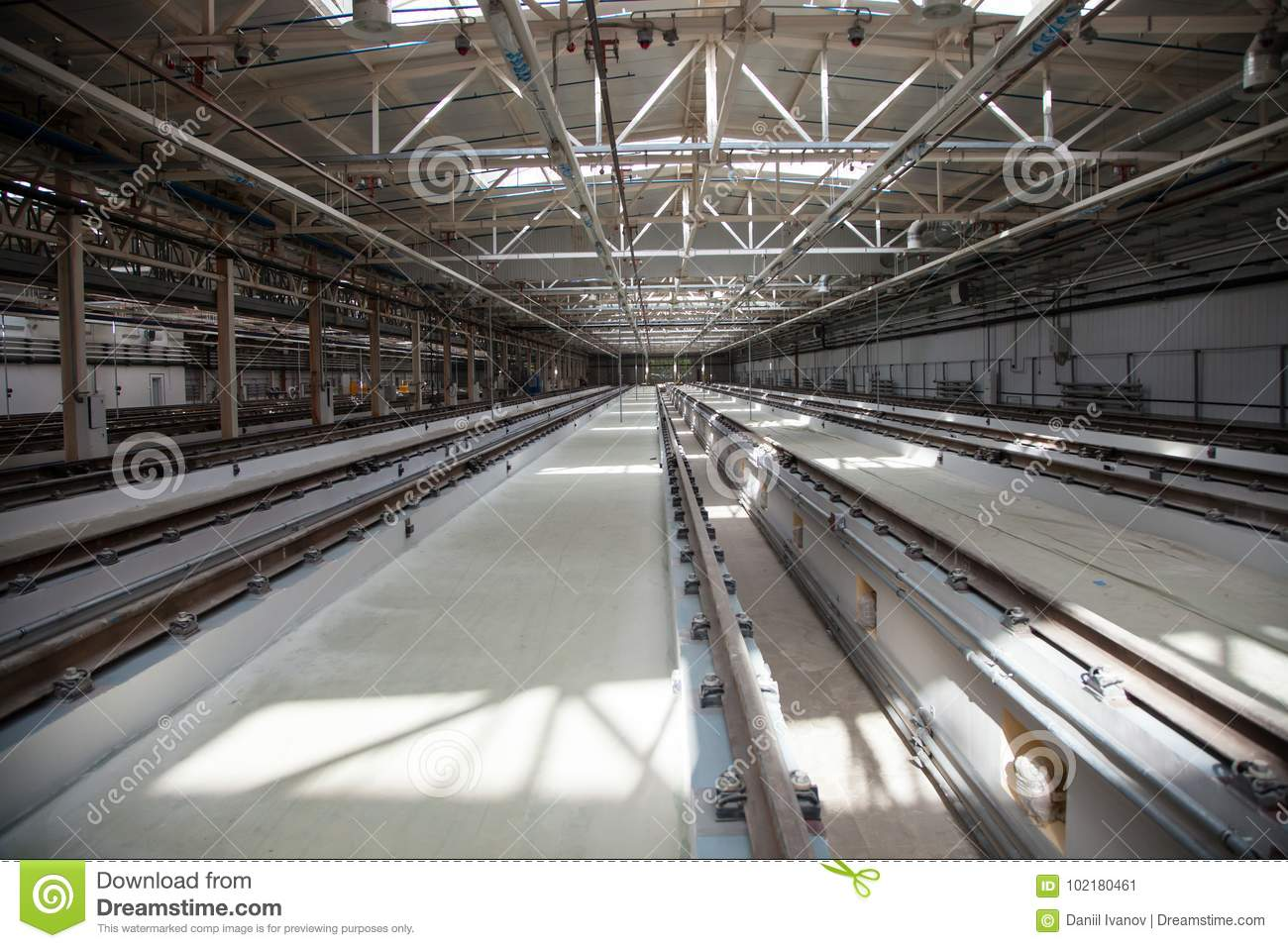 The Railway Maintenance And Factory Stock Image - Image of