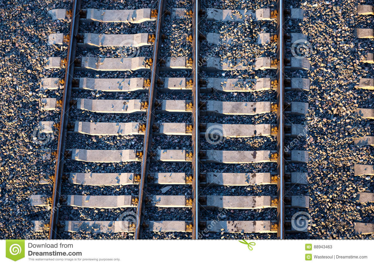 Railway path from above