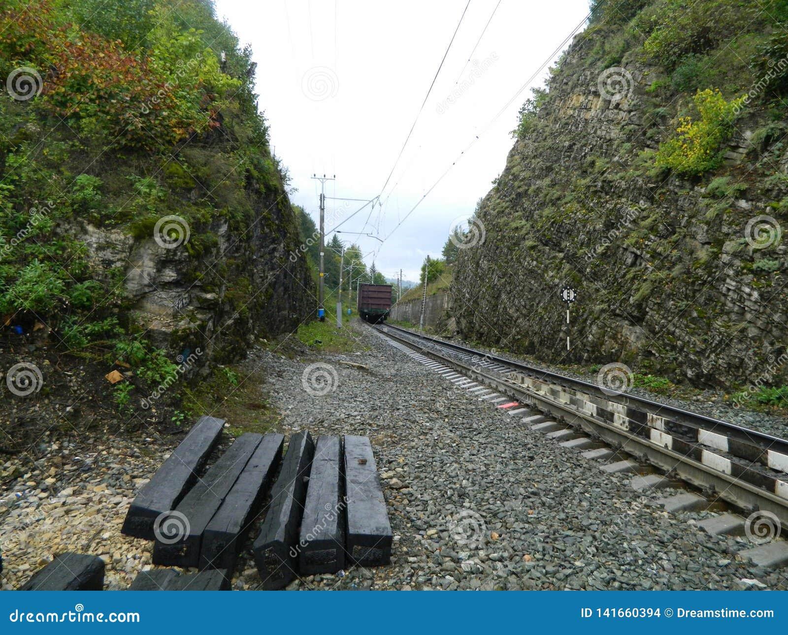The railway after a rain
