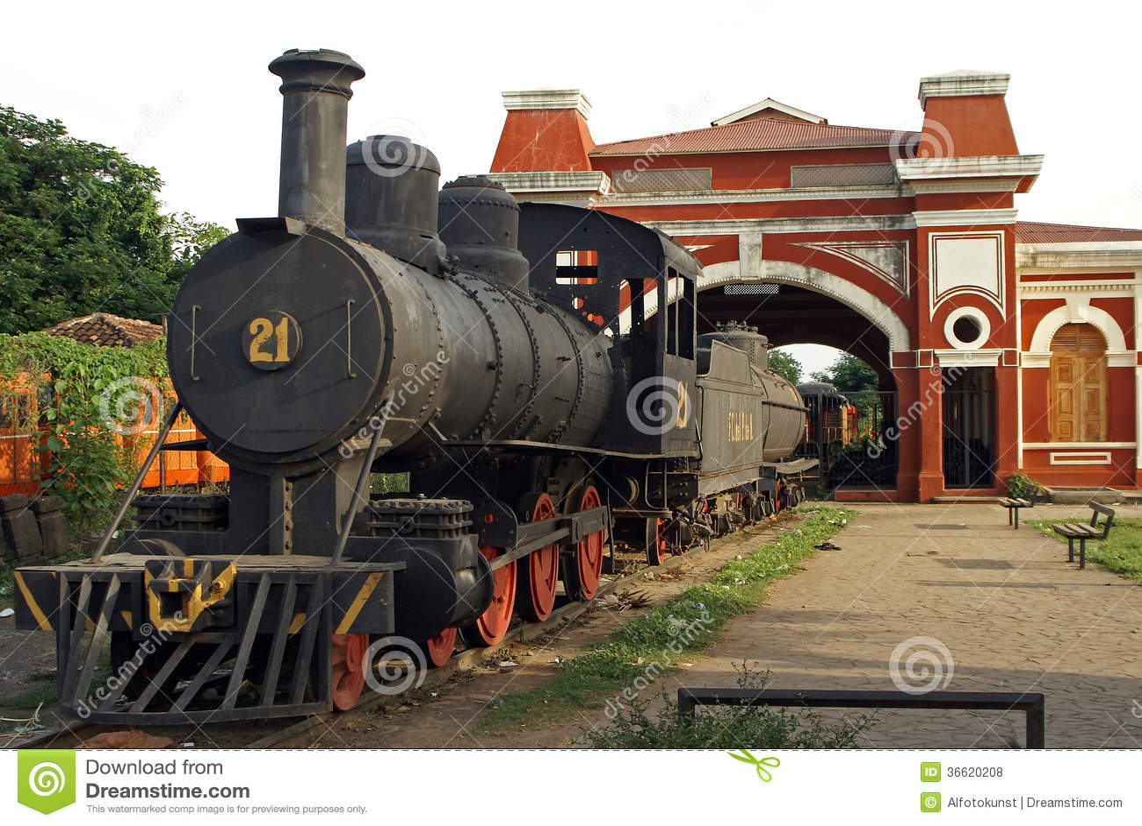 Railway Station, Granada, Nicaragua Royalty Free Stock Photos - Image: 36620208