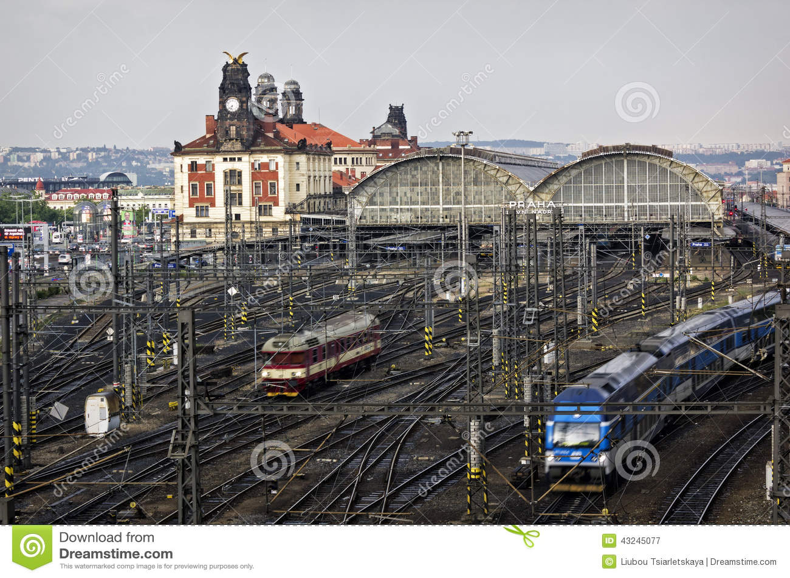 Railway station prague editorial photography image for Designhotel elephant prague 1 czech republic