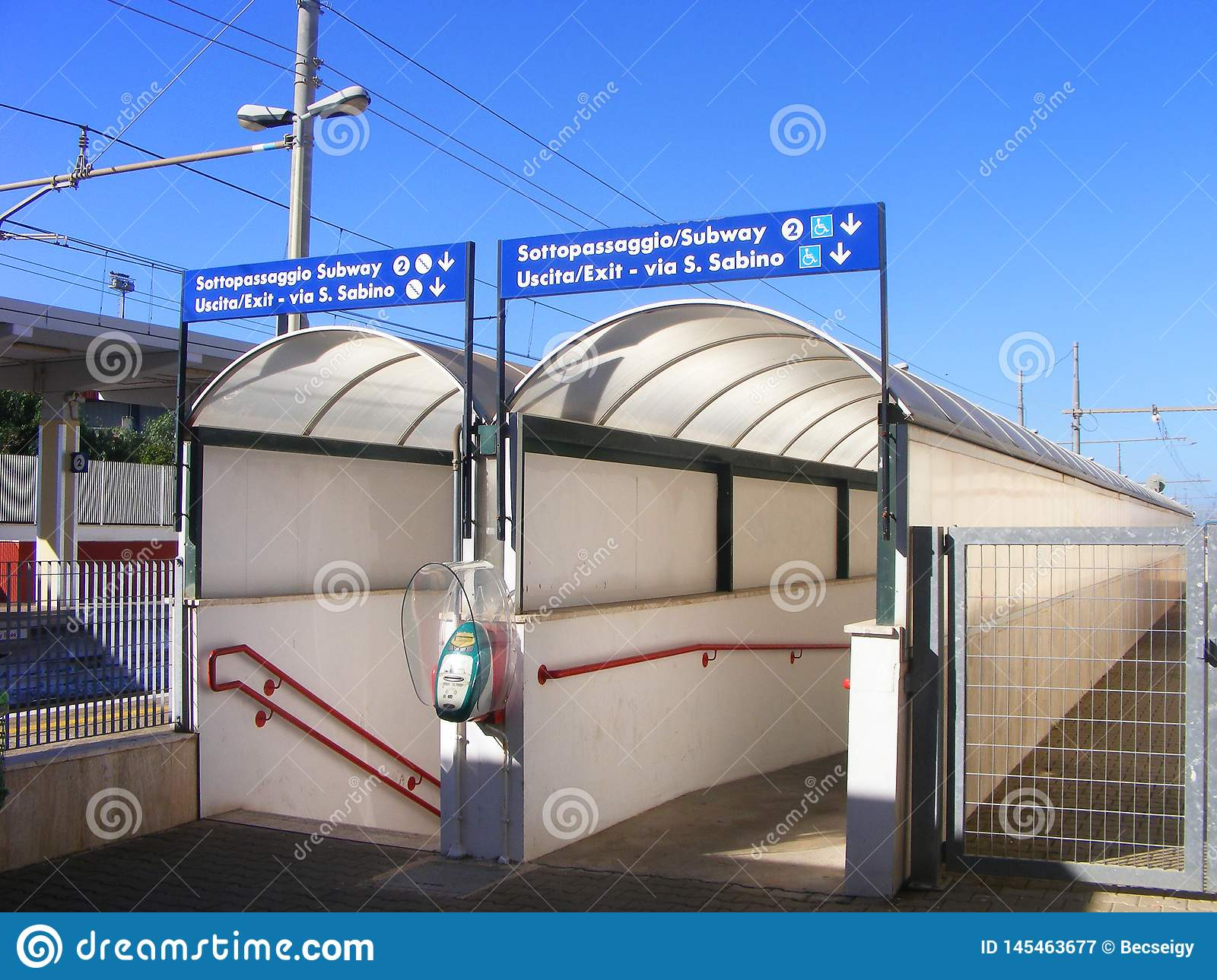 Railway station underpass entrance - South Italy