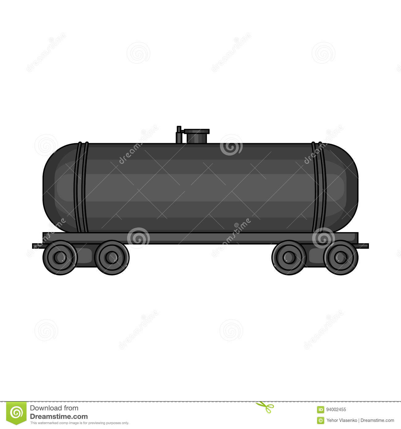 Railway Tank Caroil Single Icon In Cartoon Style Vector Symbol