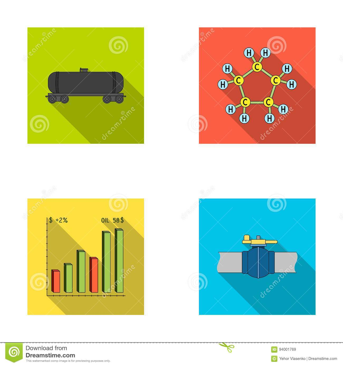 Railway tank chemical formula oil price chart pipeline valve railway tank chemical formula oil price chart pipeline valve oil set collection icons in flat style vector symbol biocorpaavc
