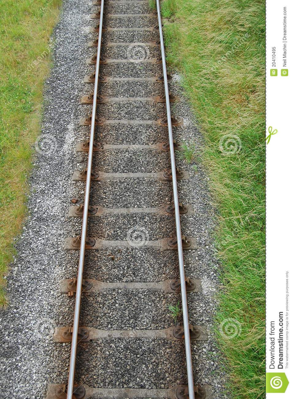 Railway Track From Above Stock Image Image Of Concrete