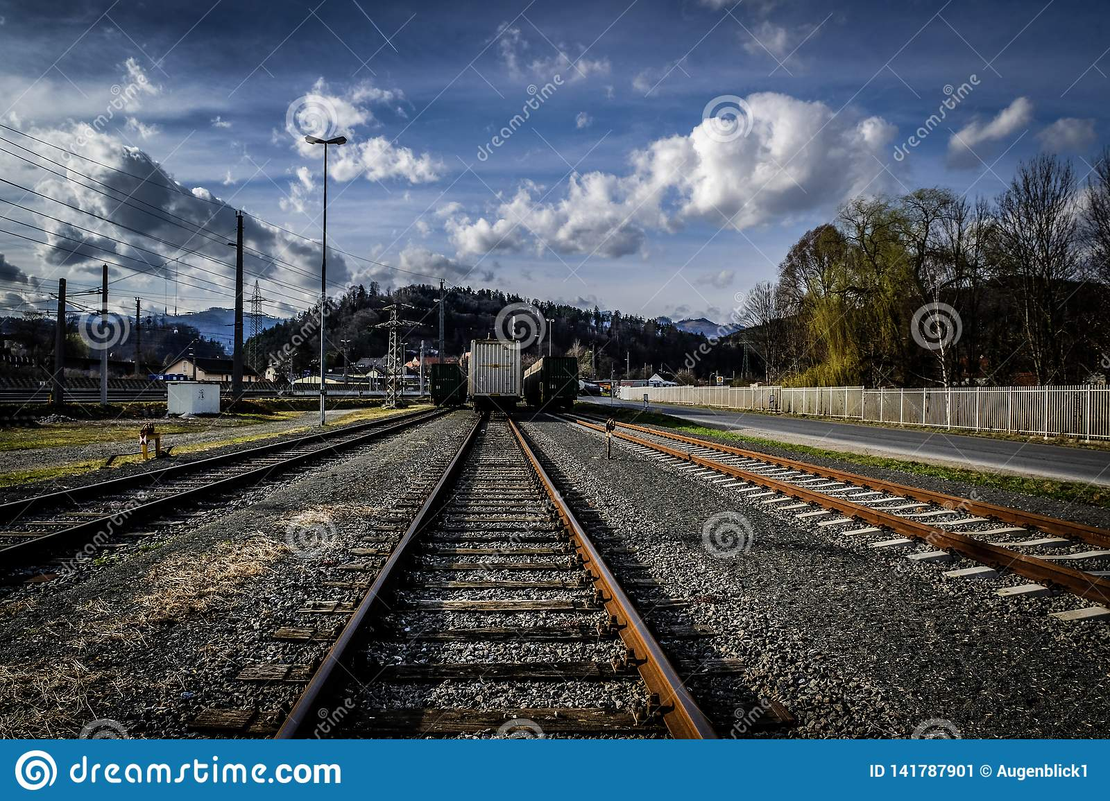 The Railway Tracks stock image  Image of directions - 141787901