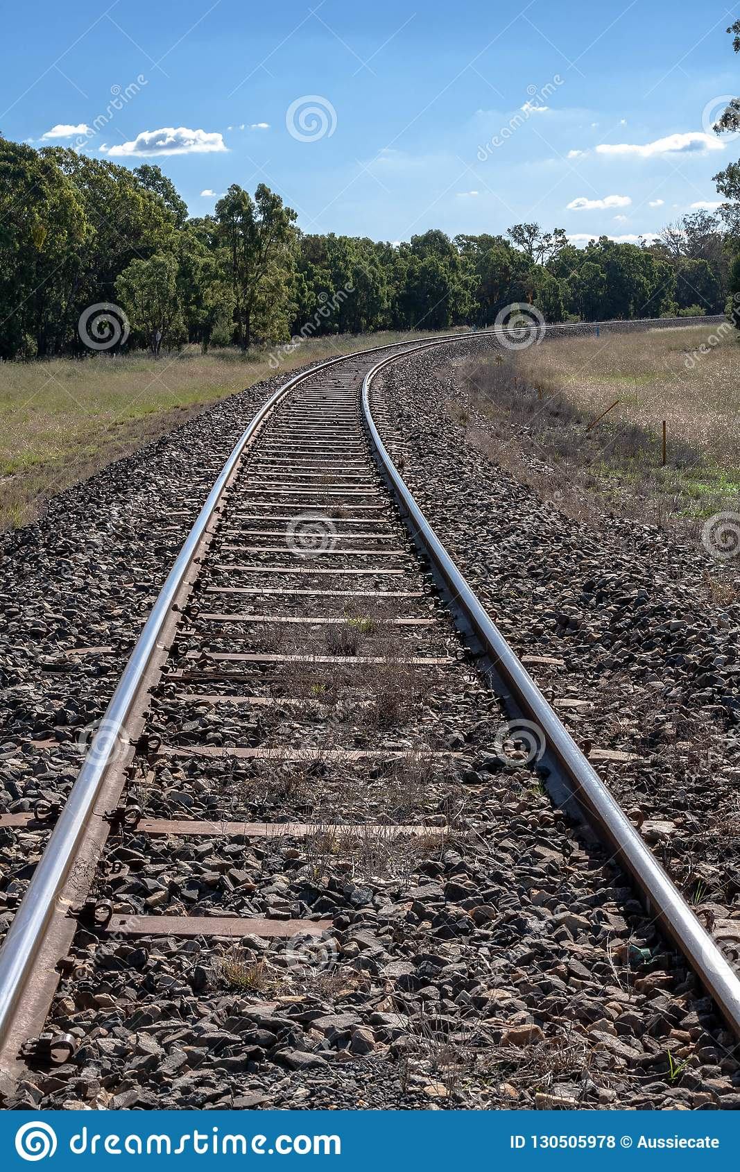 Railway tracks closeup from NSW Australia
