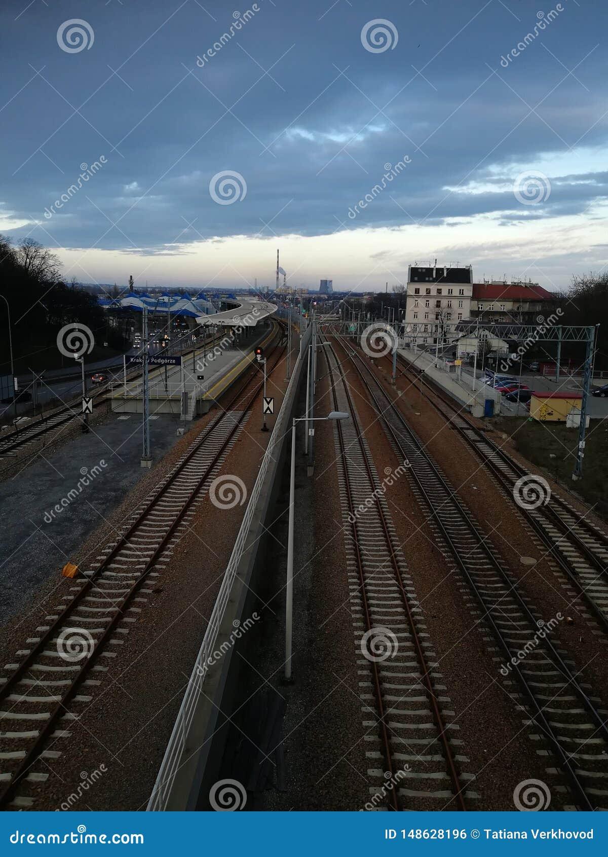 Railway tracks in Krakow