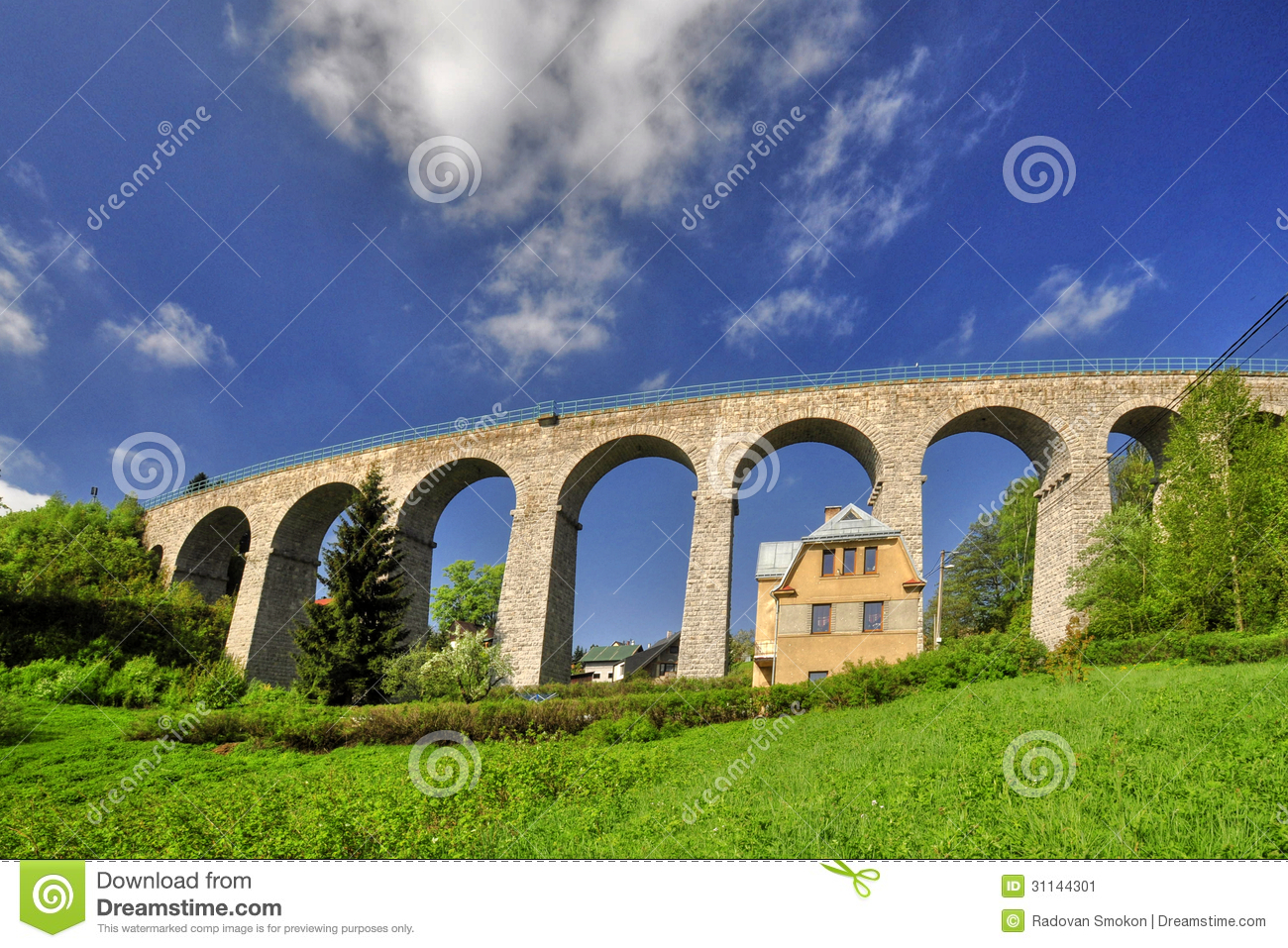 Download Railway viaduct stock image. Image of building, smrzovka - 31144301