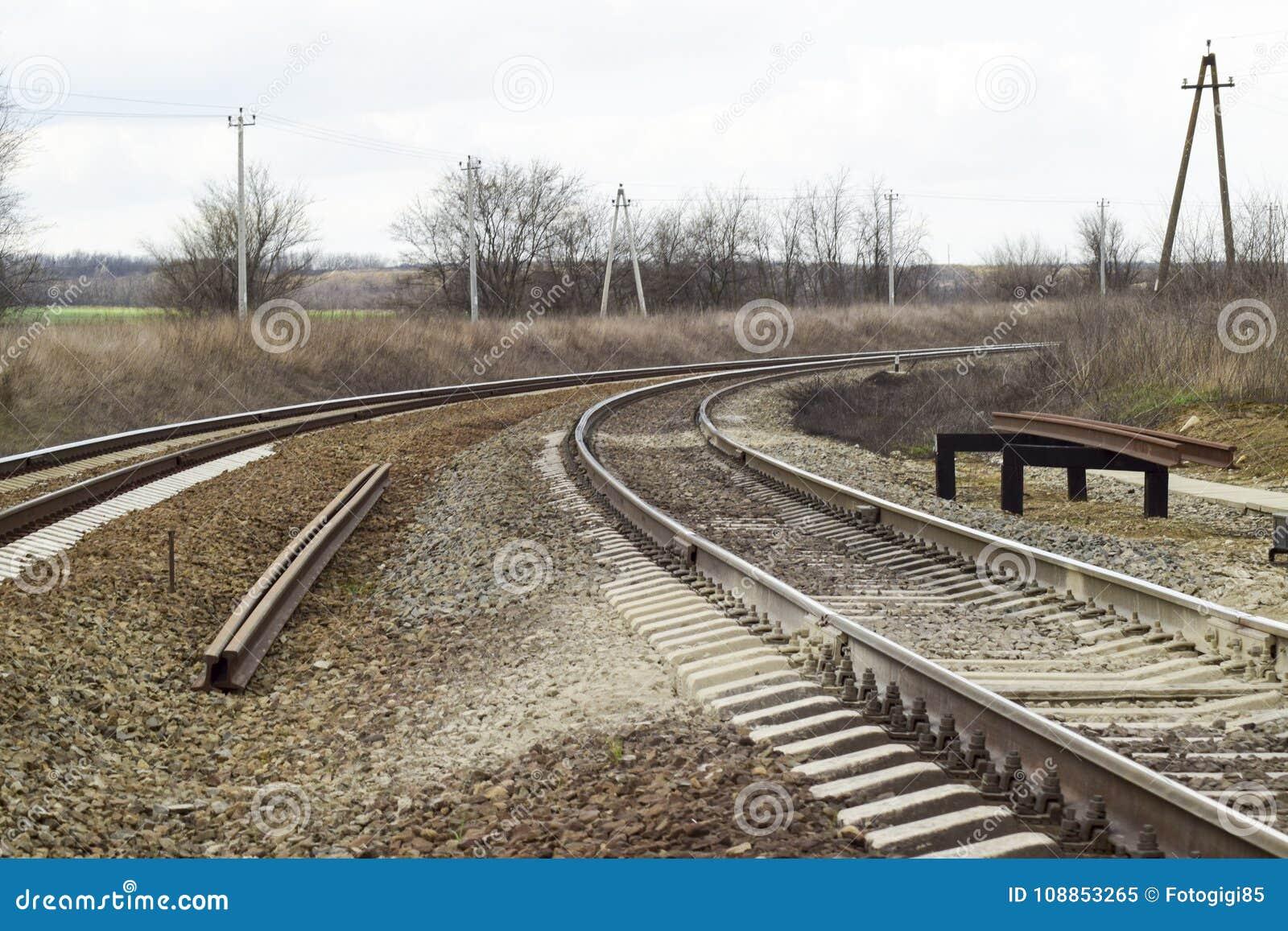 Railways Железная дорога для поездов Стальные рельсы