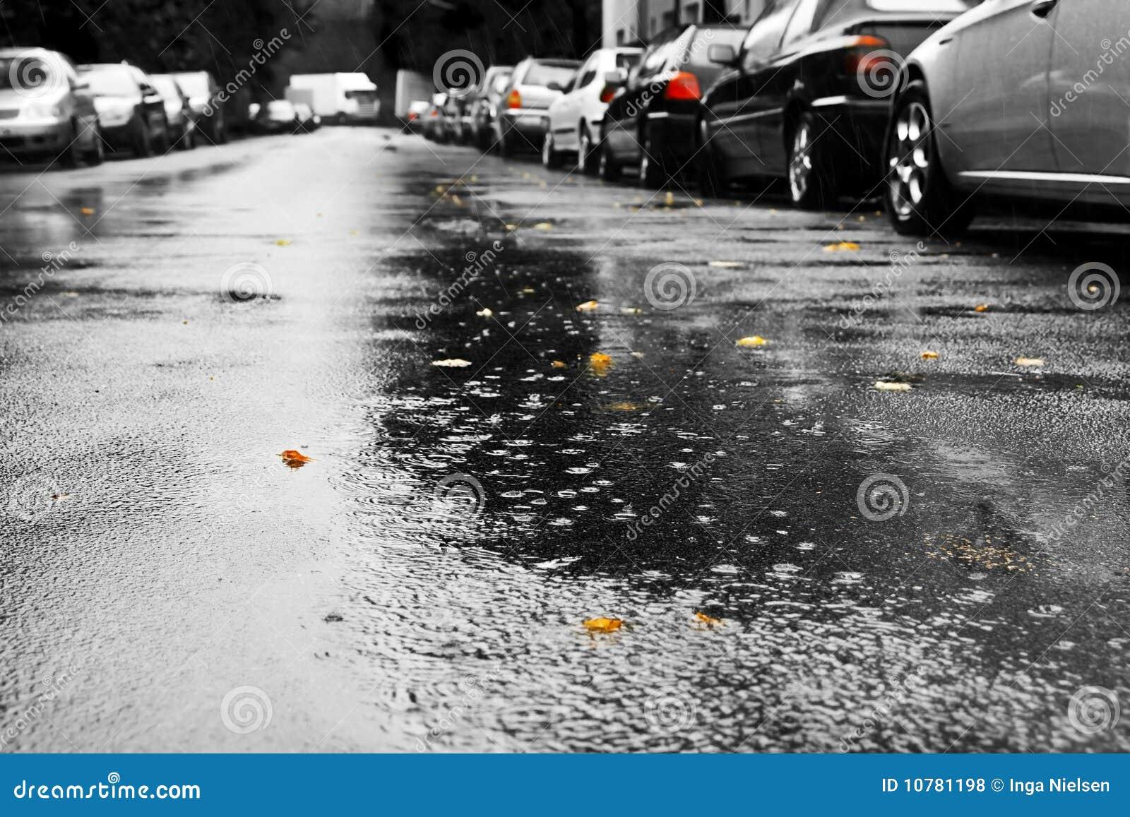 Rain and cars
