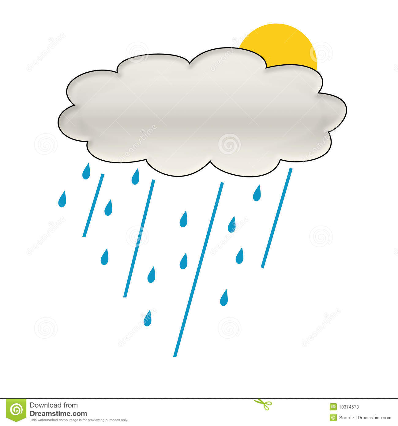 More similar stock images of ` Rain cloud illustration `