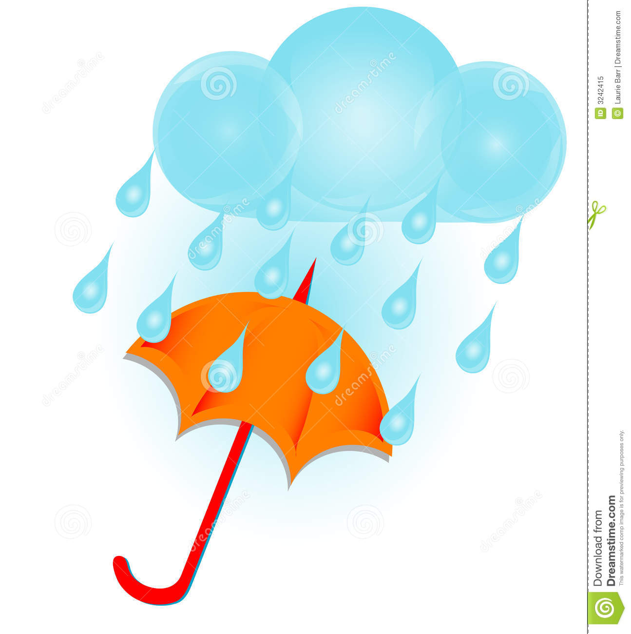 ... rain cloud and umbrella royalty free ... Umbrella Raindrops Clipart