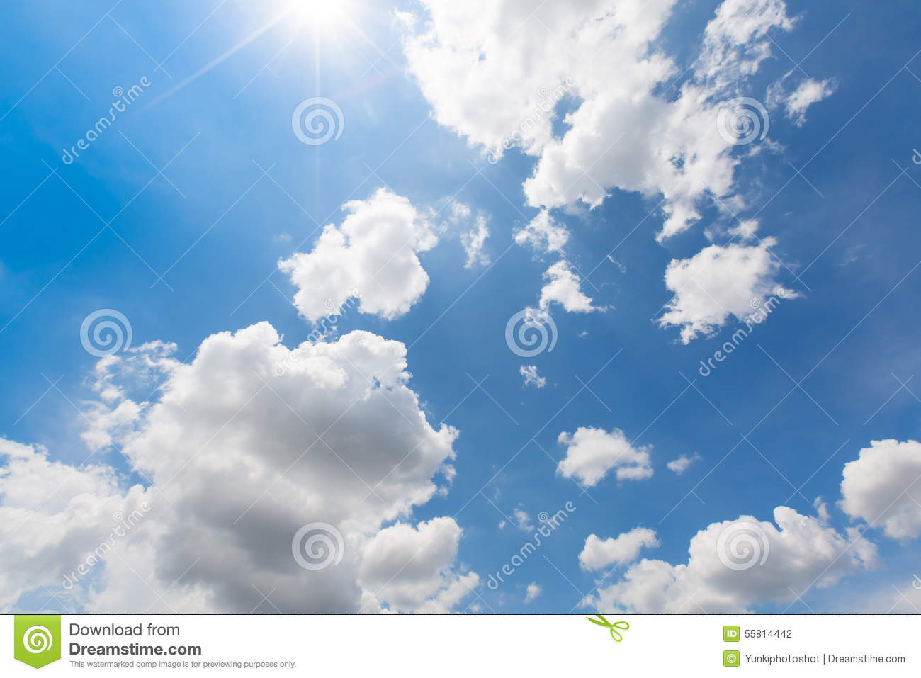Real Rain Cloud rain clouds are coming on the colorful blue sky with real ray of